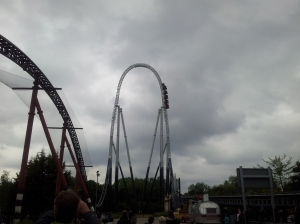 Thorpe Park in the rain