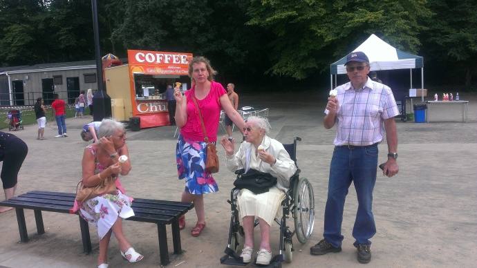 My 97 year old Gran, a day out at Ruislip Lido